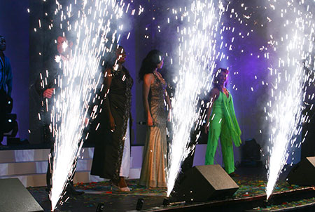 stage sparklers - event magic